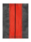 Grey and Red Abstract 5 Alu-Dibond von  NaxArt