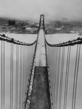 Ambassador Bridge in Detroit, 1929 Metal Print by  Scherl