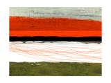 Abstract Stripe Theme Orange and Black Metal Print by  NaxArt
