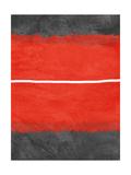 Grey and Red Abstract 2 Alu-Dibond von  NaxArt