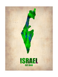 Israel Watercolor Map Metal Print by  NaxArt