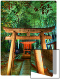 Hidden Temple in Bamboo at Night Metal Print by Trey Ratcliff