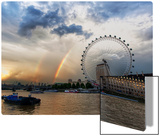 Rainbow over the London Eye Metal Print by Trey Ratcliff