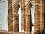 Brooklyn Bridge, New York City Metal Print by Sabine Jacobs