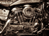 V-Twin Motorcyle Engine Metal Print by Stephen Arens