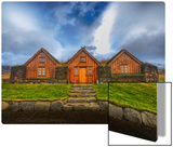 Three Houses with a Grass Roof Metal Print by Trey Ratcliff