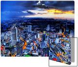 Sunset Storm over Kuala Lumpur Metal Print by Trey Ratcliff