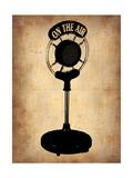 Vintage Radio Microphone Metal Print by  NaxArt