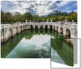 Roman Baths in Nimes Kunst auf Metall von Trey Ratcliff