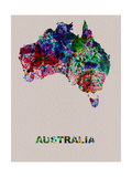 Australia Color Splatter Map Metal Print by  NaxArt
