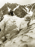 Expedition on the Mont Blanc, 1911 Metal Print by  Scherl