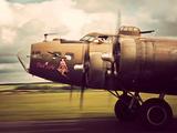 B-17G Flying Fortress Bomber Metal Print by David Bracher