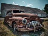 Red Buick Metal Print by Stephen Arens