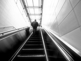 The Up Escalator Metal Print by Sharon Wish