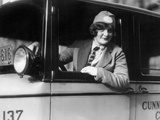 Female Taxi Driver in Philadelphia, 1926 Metal Print by  Scherl