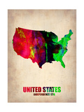 Usa Watercolor Map 2 Metal Print by  NaxArt