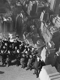 Vienna Boys' Choir on the Empire State Building, 1938 Metal Print by  Scherl