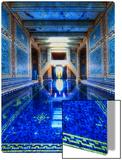 The Azure Blue Indoor Pool at Hearst Castle Kunst auf Metall von Trey Ratcliff