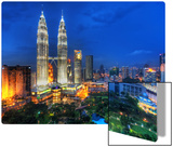 Flying Through the Night Skies of Kuala Lumpur Metal Print by Trey Ratcliff