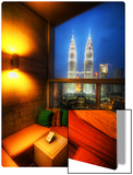 An Open Air Lounge in Kuala Lumpur Metal Print by Trey Ratcliff