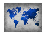 World  Map 10 Metal Print by  NaxArt