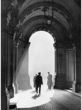 Men Pass Through the Archway of the British Foreign Ministry in London, 1938 Metal Print by  Scherl