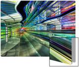The Underground Peoplemover to the International Terminal Kunst auf Metall von Trey Ratcliff