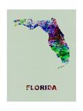 Florida Color Splatter Map Metal Print by  NaxArt