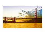 Sunset - Golden Gate Bridge - San Francisco - California - United States Metal Print by Philippe Hugonnard