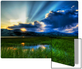 A soft summer night in the marsh Metal Print by Trey Ratcliff