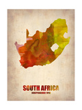 South African Map Metal Print by  NaxArt