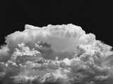 New Mexico Cloud Thunderhead Landscape Abstract in Black and White, New Mexico Metal Print by Kevin Lange