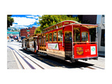 Cable Cars - Streets - Downtown - San Francisco - Californie - United States Metal Print by Philippe Hugonnard