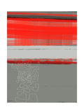 NaxArt - Abstract Red 1 - Poster