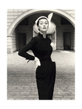 Anne Gunning in a Velveteen Evening Coat, 1952 Metal Print by John French