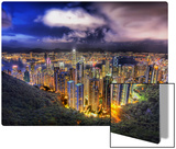 Hong Kong from the peak on a summer's night Metal Print by Trey Ratcliff