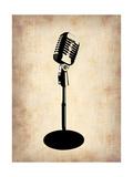 Vintage Microphone Metal Print by  NaxArt