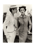 Fiona Campbell-Walter and Anne Gunning in Tailored Suits, 1953 Metal Print by John French