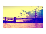 Sunset - Golden Gate Bridge - San Francisco - California - United States Metal Print by Philippe Hugonnard