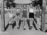 Children at Lake Tegel Beach, 1938 Metal Print by  Scherl