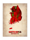 South Korea Watercolor Map Metal Print by  NaxArt