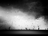 Three Umbrellas Metal Print by Josh Adamski