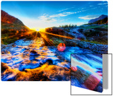 The River's Cool Morning Spray on my Lens Metal Print by Trey Ratcliff