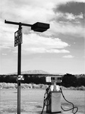 Gas Pump and New Mexico Landscape Sky, San Ysidro 2 Metal Print by Kevin Lange