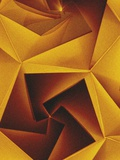 Golden Geometric Pentagons Metal Print by Tim Kahane