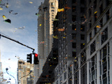 Reflections in Midtown Manhattan, New York City Metal Print by Sabine Jacobs