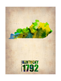 Kentucky Watercolor Map Metal Print by  NaxArt
