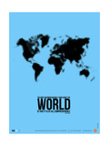 World Map Poster Metal Print by  NaxArt