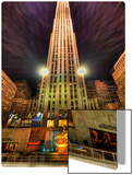 Ice Skating at Rockefeller Center Metal Print by Trey Ratcliff