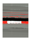 Abstract Red 4 Metal Print by  NaxArt